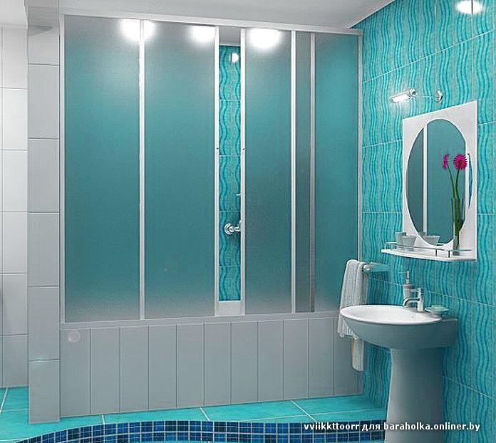 Раздвижные пластиковые шторки на ванну