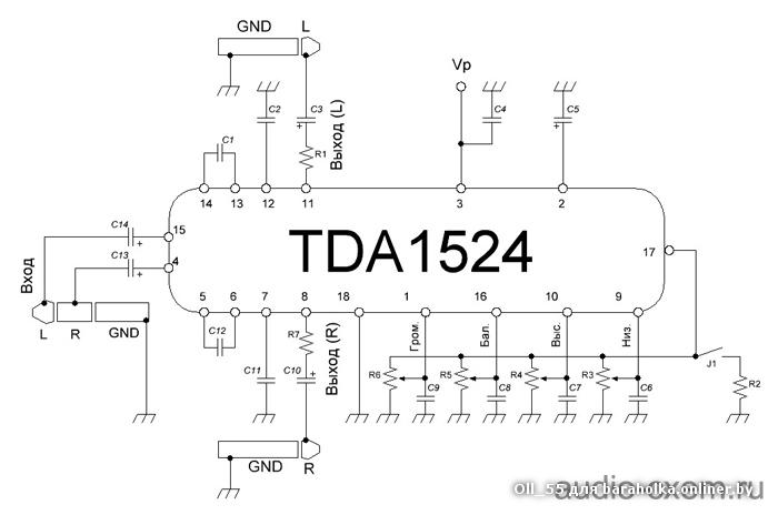 Tda7269a 1414w stereo amplifier with mute  st-by