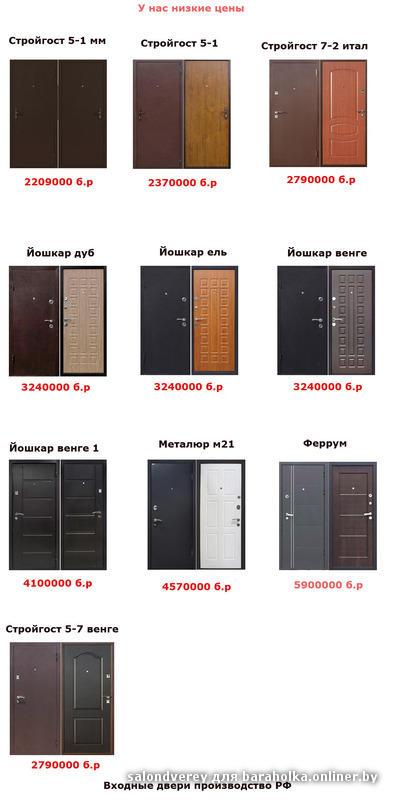входные двери металлические низкие цены