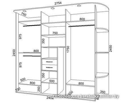 Встроенный шкаф купе схема своими руками