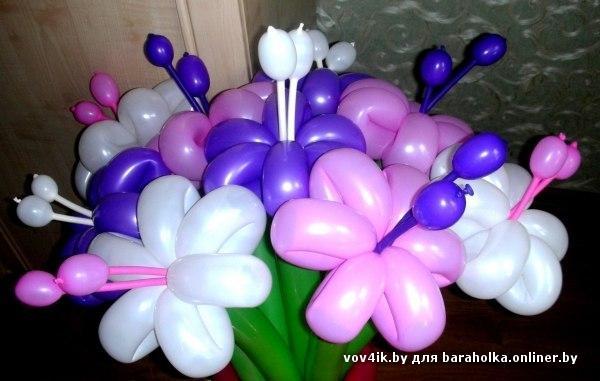 Как цветок из шаров своими руками