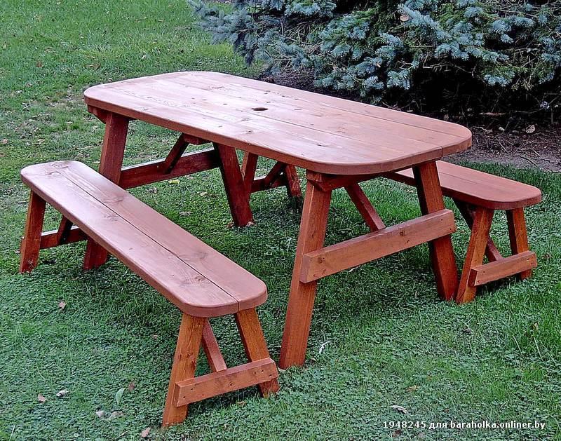 Скамейки и столы в сад своими руками