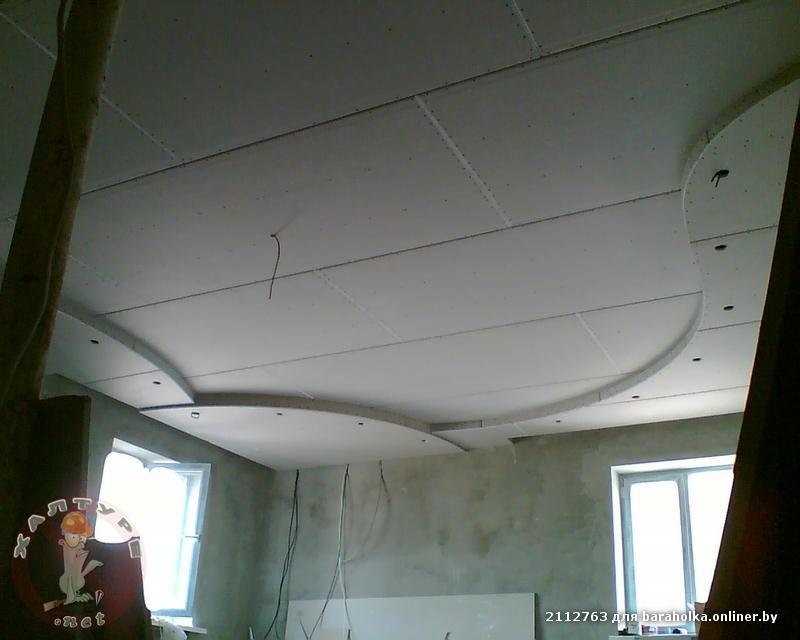 Как из гипсокартона сделать волну на потолке из гипсокартона