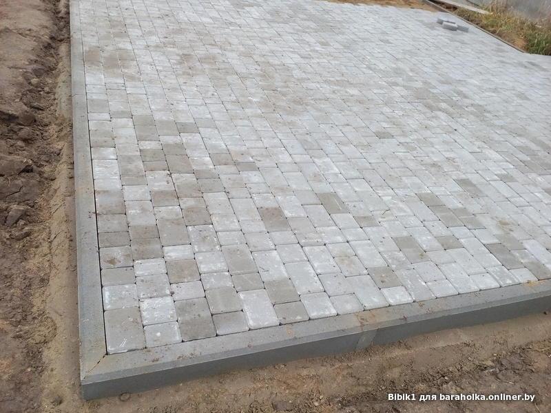 Укладка тротуарной плитки на стяжку