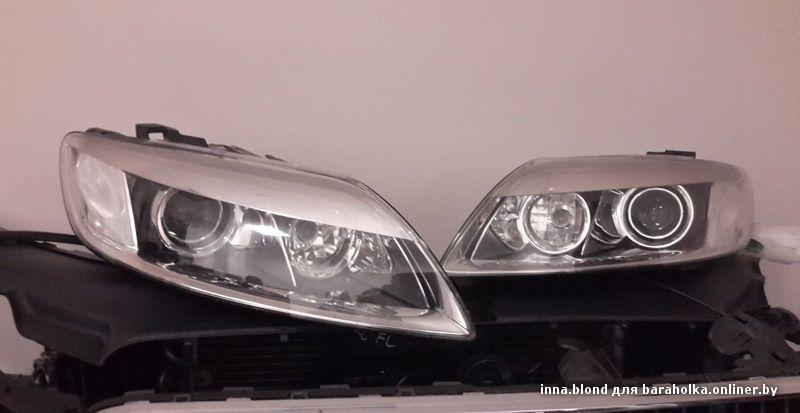 Audi q7, оптика 4 би-ксеноновых линзы +drl вариант 3