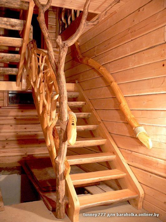 Лестницы из дерева фото своими руками