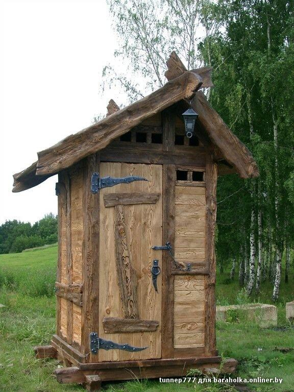 Туалет из горбыля