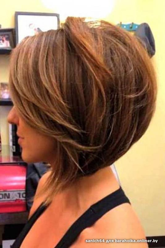 Стрижки для темных волос