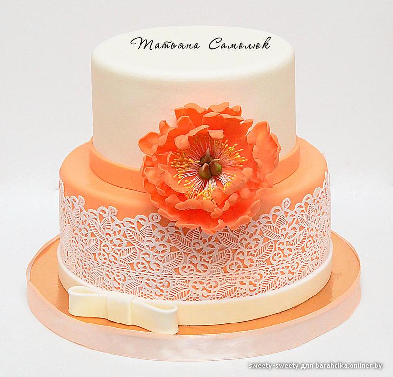 Свадебный торт в минске фото