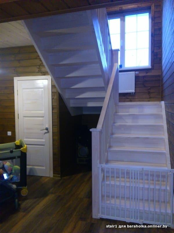 Лестницу из дерева в дом, на дачу, на 2 этаж - Барахолка onliner.by