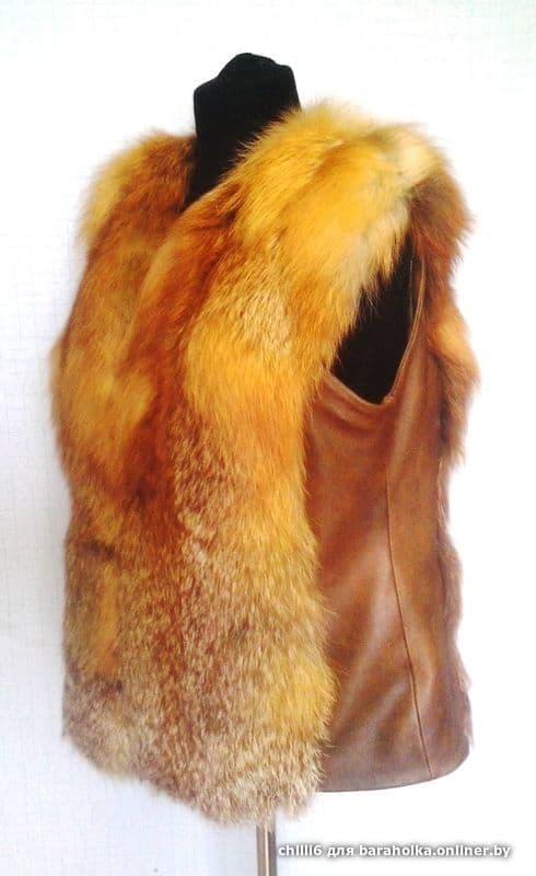 Сшить меховой жилет из натурального меха