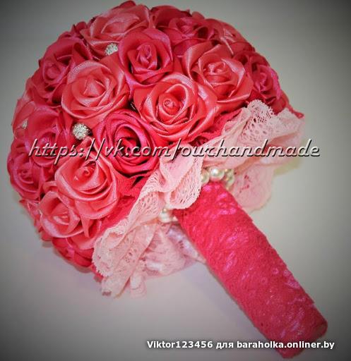Поделки из лент розы или букет из роз