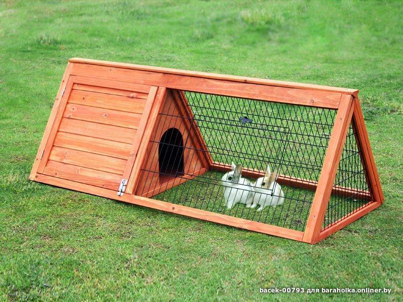 Как сделать клетку для кроликов из дерева