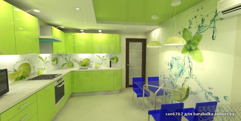 Кухни зеленого оттенка фото