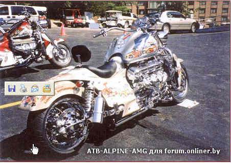 Мотоцикл с двигателем от газа