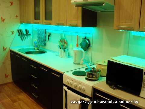 Подсветка на кухне светодиодной лентой своими руками фото