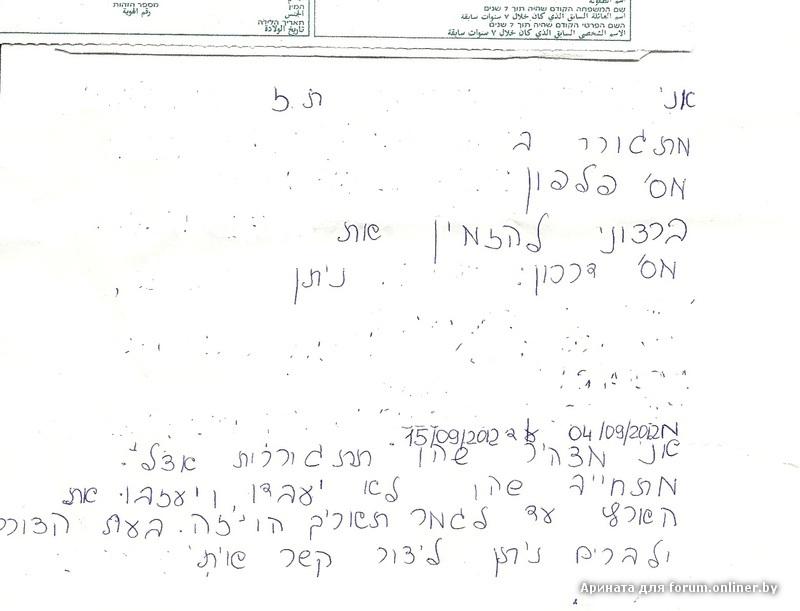 образец приглашения в израиль от друзей