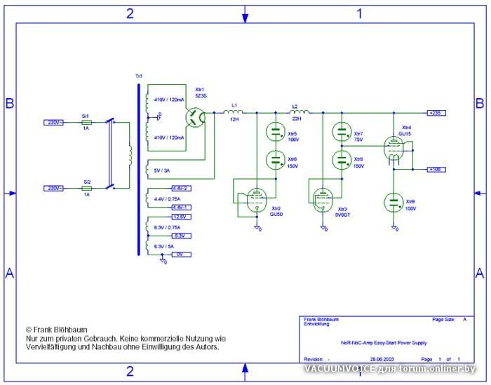 Есть у меня другой вариант схемки РР УНЧ на 6Н6П ,предлагаю к общему вниманию.  Сх.блока Пит.прилагается).