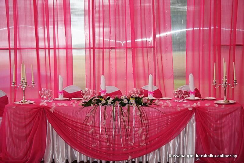 Декор свадебного стола молодоженов своими руками