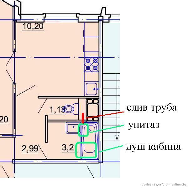 Установка унитаза в ванной комнате , обычный панельный дом -.
