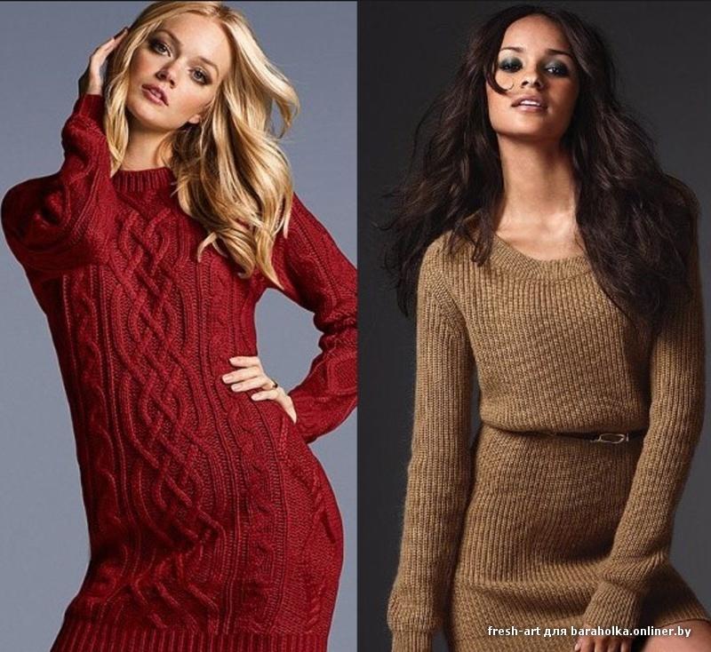 В обеих . . И зимние теплые платья понравились. . . Как же долго вязать платье крючком