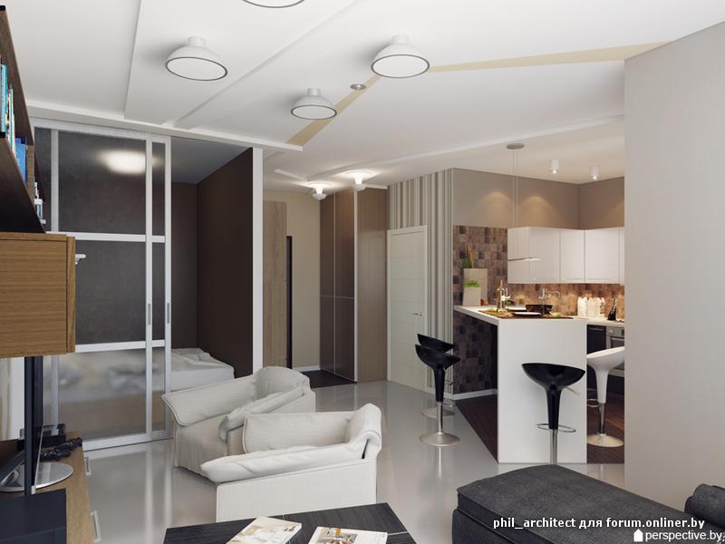 Фото дизайна 1 комнатной квартиры 40 м