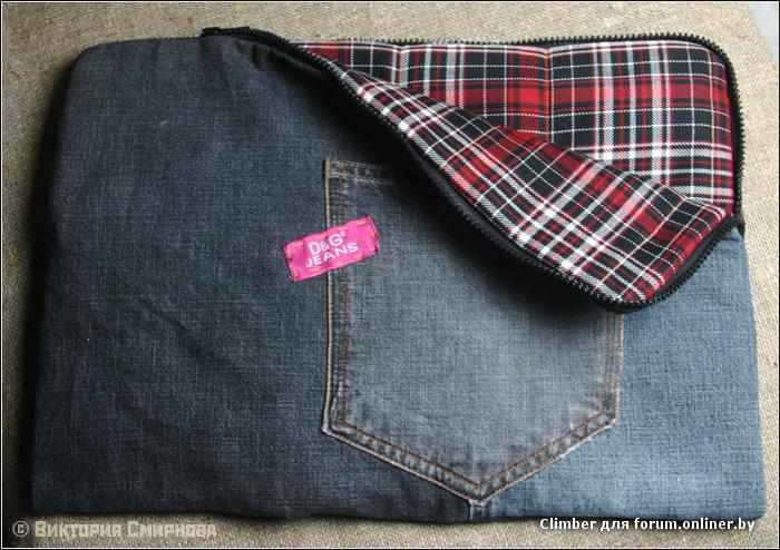 Сшить чехол на планшет из джинс фото 563