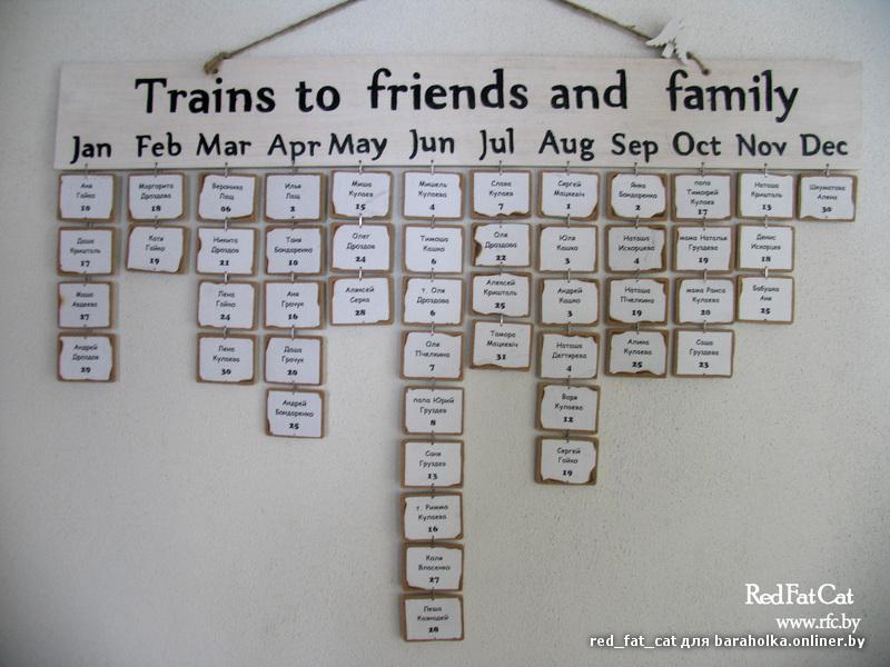 Календарь с днем рождения своими руками