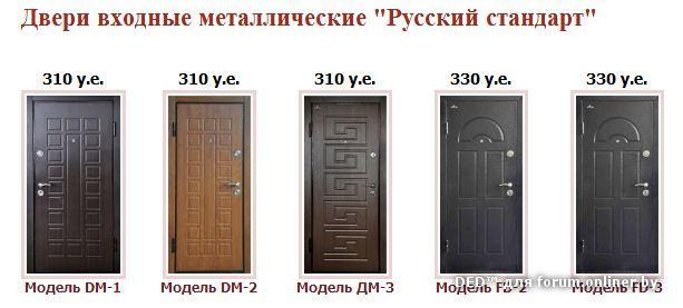 металлические двери стандартные 2х