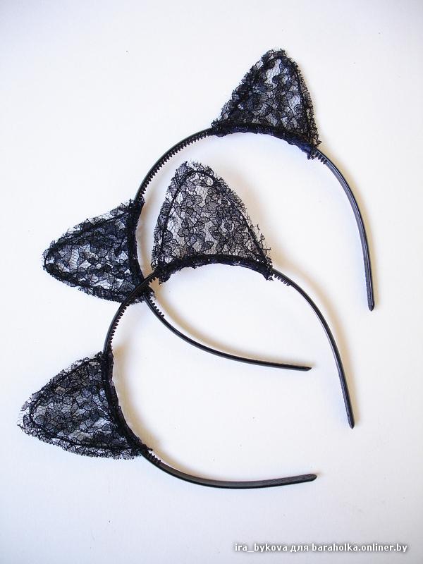Кошачьи ушки своими руками из кружева