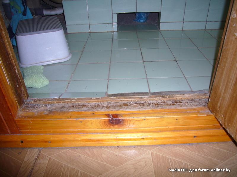 Как правильно сделать пол в ванной если полы деревянные 932