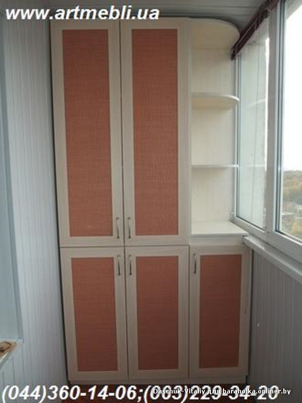 План шкафа в балкон..