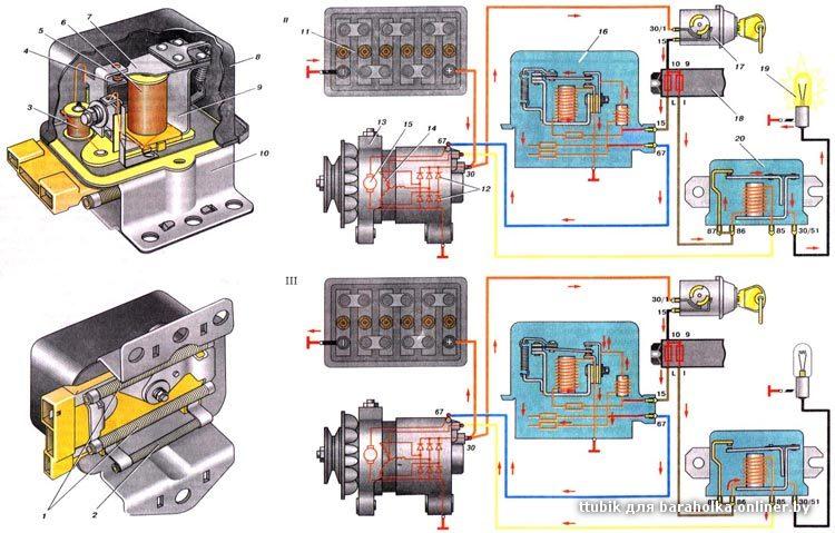 схема зарядки аккумулятора на ваз 2106 - Практическая схемотехника.