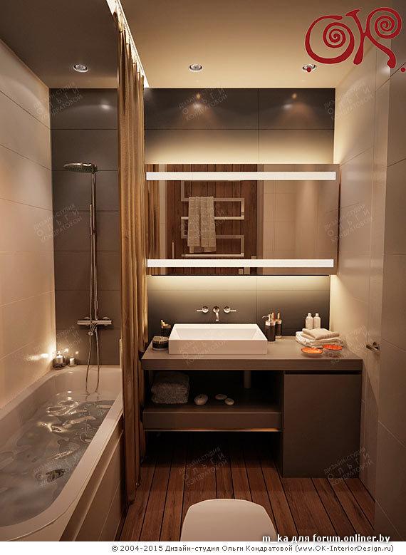 Дизайн маленькой ванной комнаты 2017 современные идеи