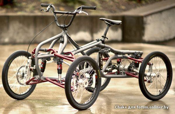 Четырехколёсный велосипед своими руками