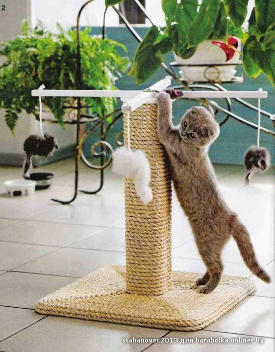 Сделать точилку для кошки своими руками
