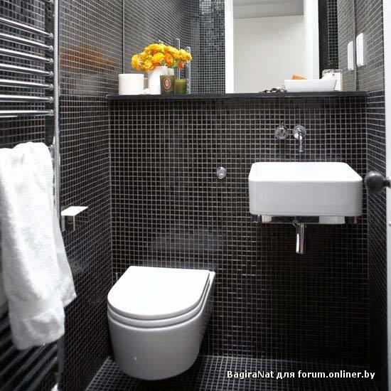 Дизайн туалетной комнаты с