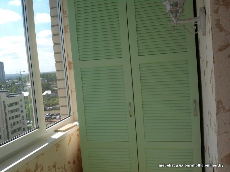 Шкаф с жалюзийными дверцами фото