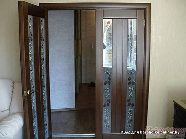 Установка межкомнатных двухстворчатых дверей своими руками фото