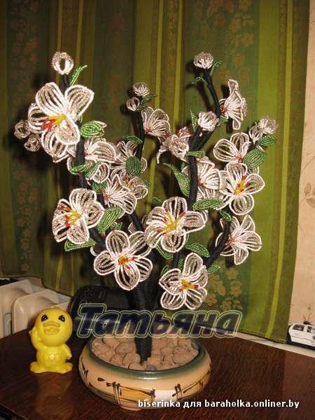 Ручная работа из бисера цветы деревья укр Бисероплетение.