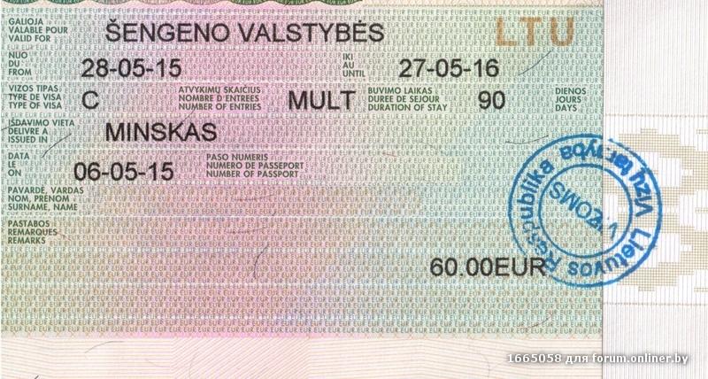 Цены годовой визы в чехию