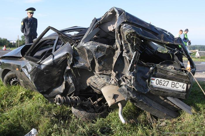 В гродно на улице калиновского столкнулись три автомобиля