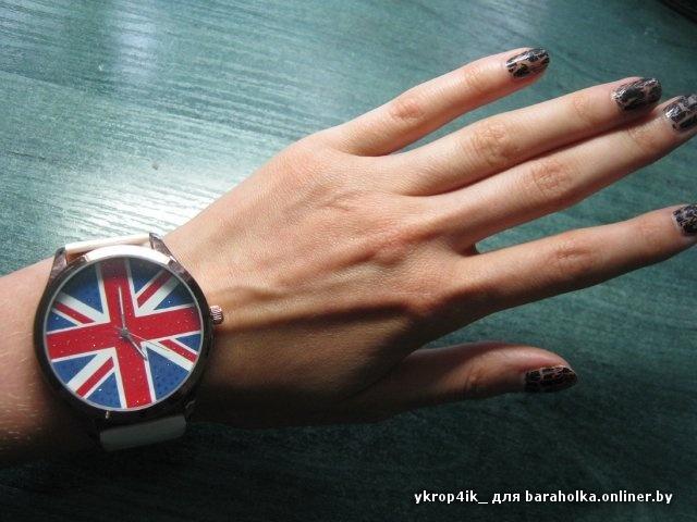 часы с флагом великобритании