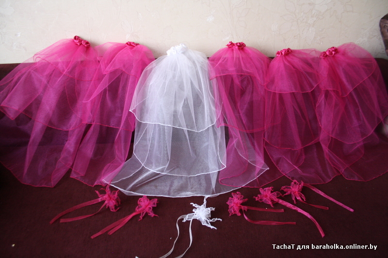 Как сделать фату для девичника своими руками поэтапно