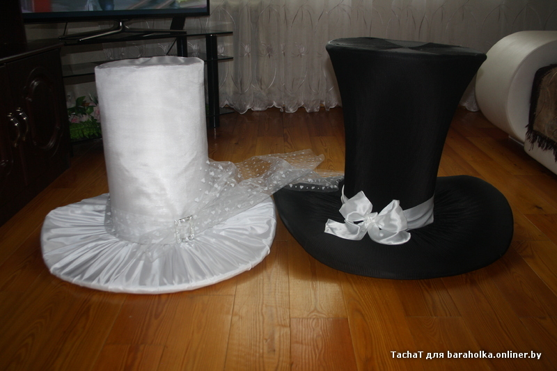 Как сделать шляпу для жениха из шампанского