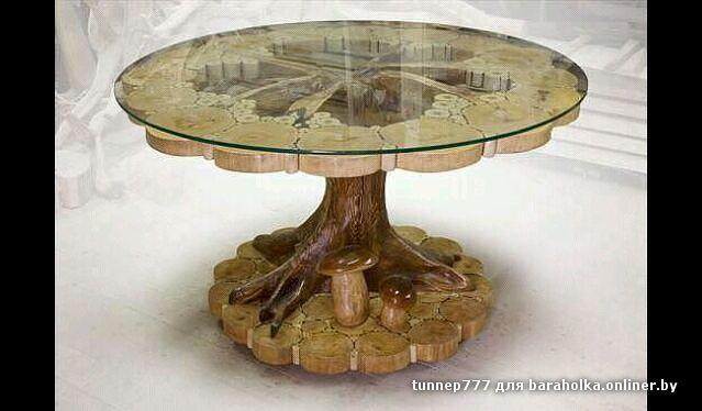 Стул из круглого дерева
