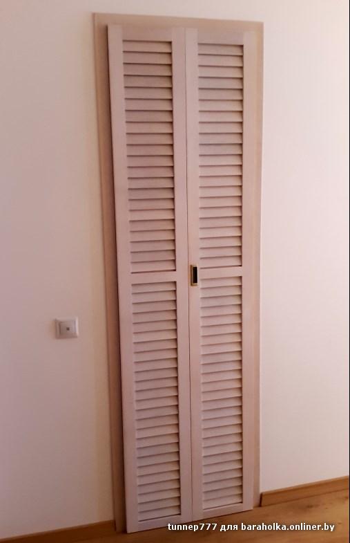 Установка жалюзийных дверей в гардеробную своими руками 25