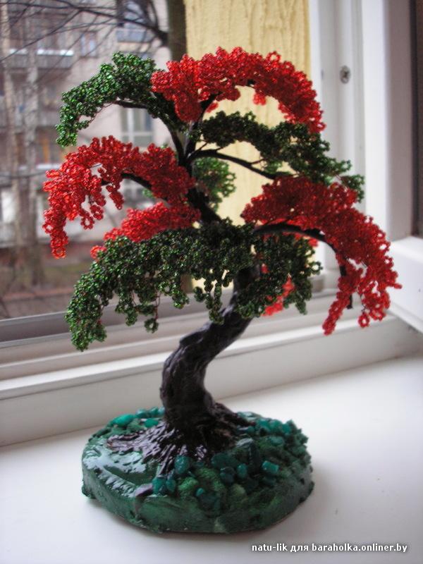 деревья из бисера.