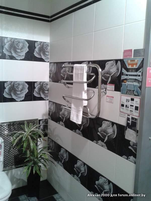 Дизайн ванной с черными розами