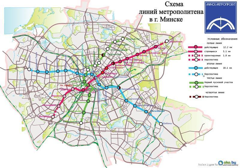 Разработана примерная схема 4-ой линии минского...  Danniella, Ст. Малиновка на этой карте называется...